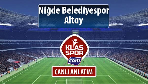 Niğde Belediyespor - Altay maç kadroları belli oldu...