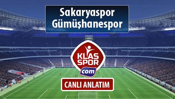 Sakaryaspor - Gümüşhanespor maç kadroları belli oldu...