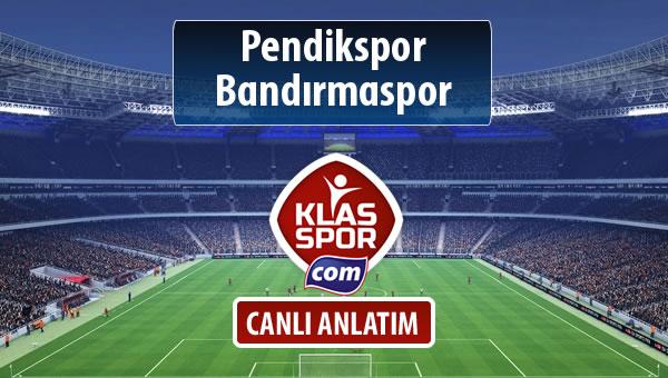 Pendikspor - Bandırmaspor maç kadroları belli oldu...