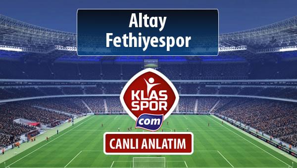 Altay - Fethiyespor maç kadroları belli oldu...