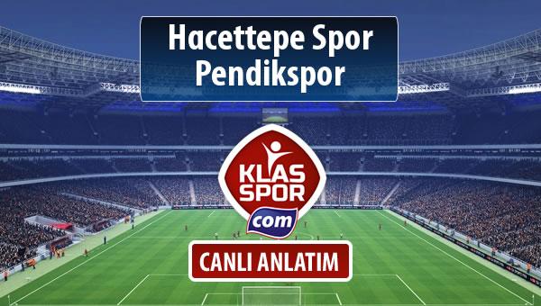 Hacettepe Spor - Pendikspor maç kadroları belli oldu...