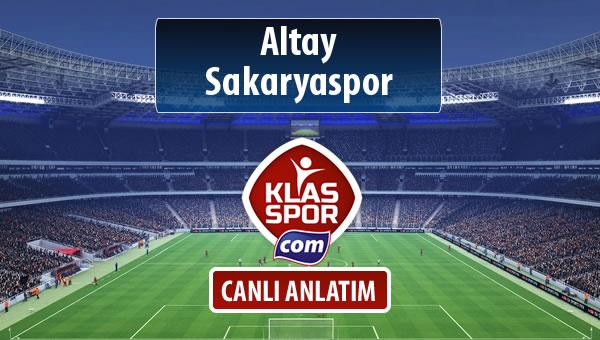 İşte Altay - Sakaryaspor maçında ilk 11'ler