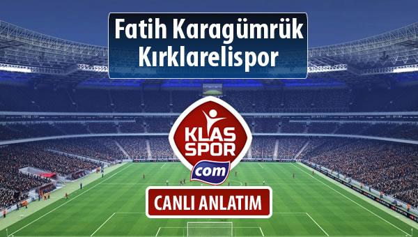İşte Fatih Karagümrük - Kırklarelispor maçında ilk 11'ler