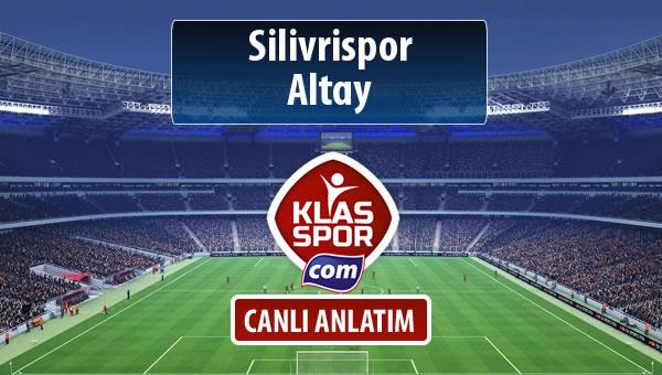 Silivrispor - Altay sahaya hangi kadro ile çıkıyor?