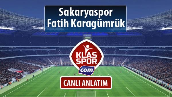 Sakaryaspor - Fatih Karagümrük maç kadroları belli oldu...