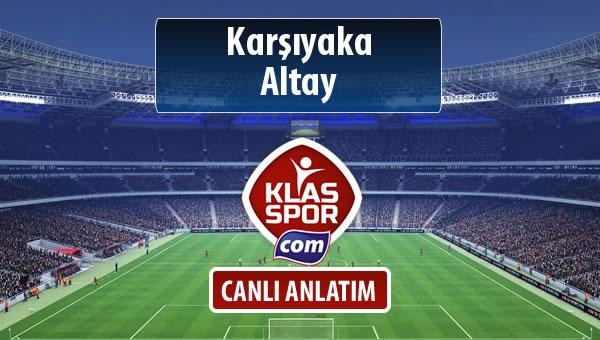 İşte Karşıyaka - Altay maçında ilk 11'ler