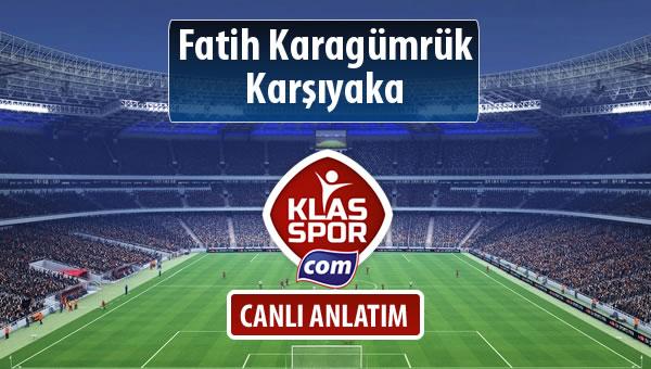 Fatih Karagümrük - Karşıyaka maç kadroları belli oldu...