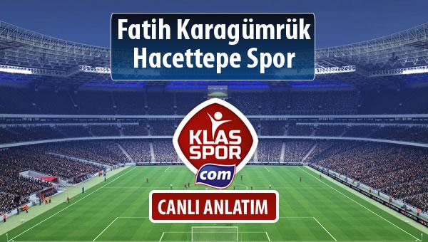 Fatih Karagümrük - Hacettepe Spor maç kadroları belli oldu...