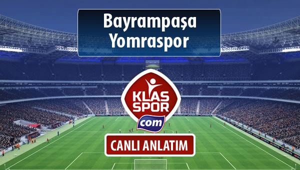 İşte Bayrampaşa - Yomraspor maçında ilk 11'ler