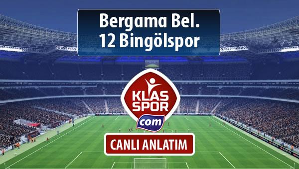 İşte Bergama Bel. - 12 Bingölspor maçında ilk 11'ler