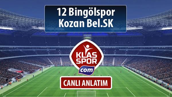 12 Bingölspor - Kozan Bel.SK maç kadroları belli oldu...