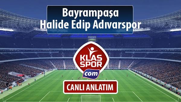 Bayrampaşa - Halide Edip Adıvarspor maç kadroları belli oldu...