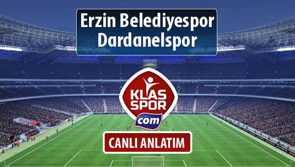 Erzin Belediyespor - Dardanelspor sahaya hangi kadro ile çıkıyor?