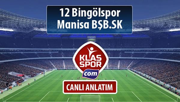 12 Bingölspor - Manisa BŞB.SK maç kadroları belli oldu...
