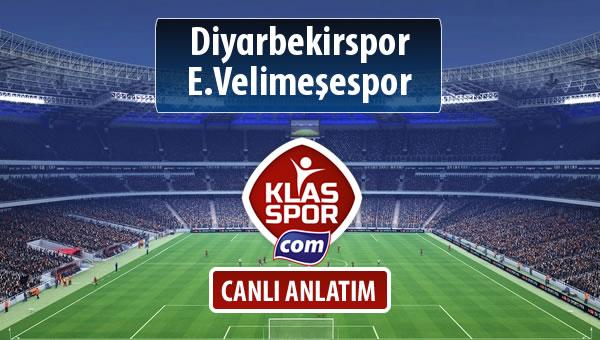 Diyarbekirspor - E.Velimeşespor maç kadroları belli oldu...