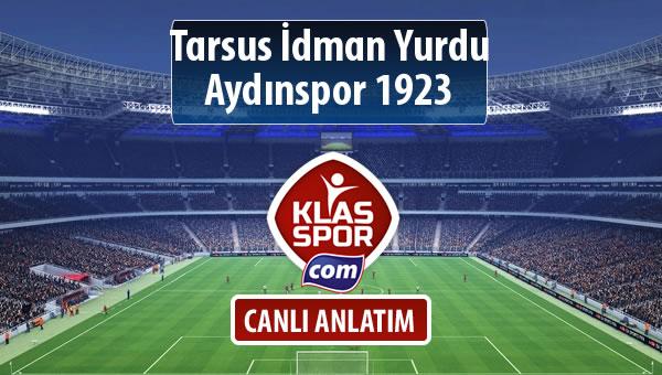 Tarsus İdman Yurdu - Aydınspor 1923 maç kadroları belli oldu...
