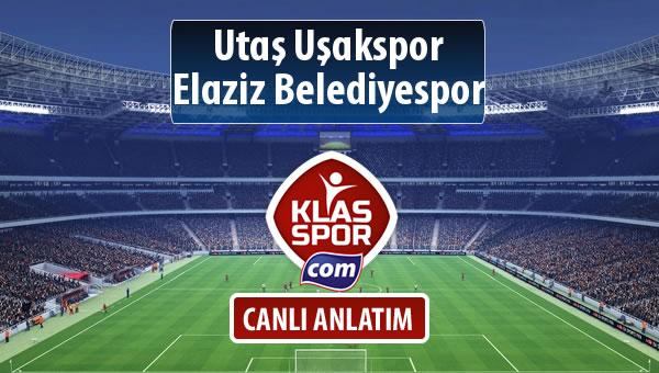 Utaş Uşakspor - Elaziz Belediyespor maç kadroları belli oldu...