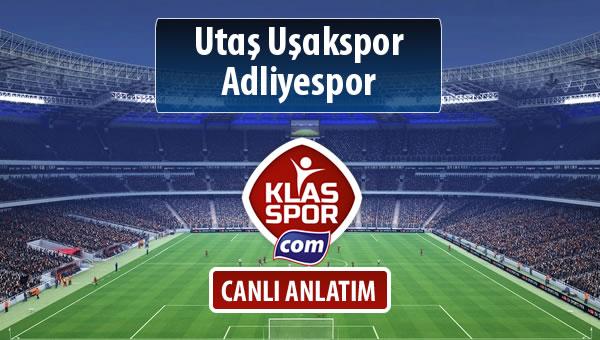 Utaş Uşakspor - Adliyespor sahaya hangi kadro ile çıkıyor?