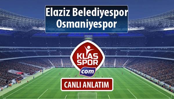 İşte Elaziz Belediyespor - Osmaniyespor maçında ilk 11'ler