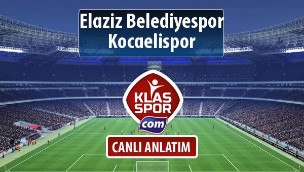 Elaziz Belediyespor - Kocaelispor maç kadroları belli oldu...