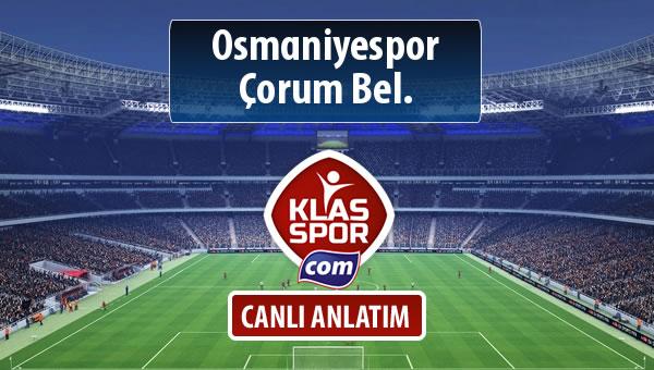Osmaniyespor - Çorum Bel. maç kadroları belli oldu...