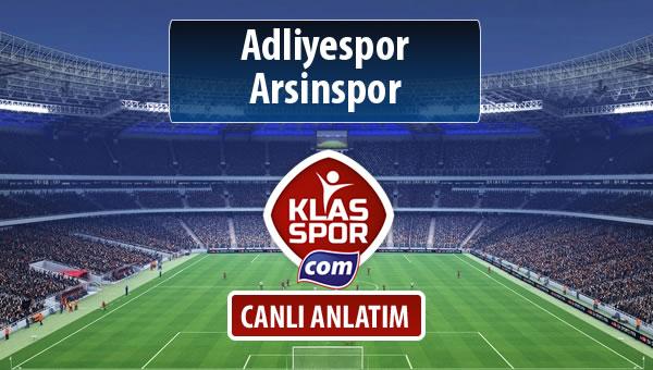 İşte Adliyespor - Arsinspor maçında ilk 11'ler