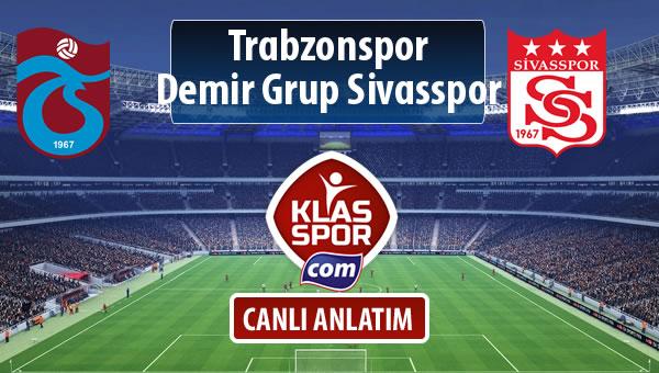 Trabzonspor - Demir Grup Sivasspor sahaya hangi kadro ile çıkıyor?