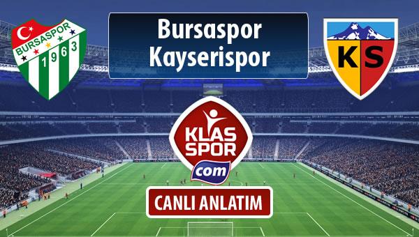 Bursaspor - Kayserispor maç kadroları belli oldu...