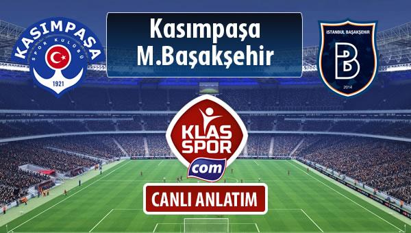 Kasımpaşa - M.Başakşehir sahaya hangi kadro ile çıkıyor?