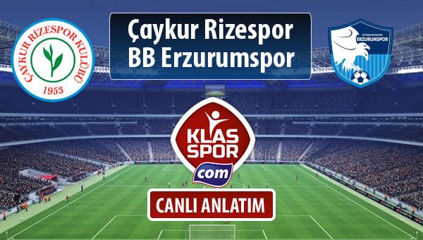 İşte Çaykur Rizespor - BB Erzurumspor maçında ilk 11'ler