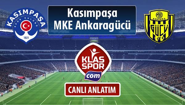 Kasımpaşa - MKE Ankaragücü sahaya hangi kadro ile çıkıyor?