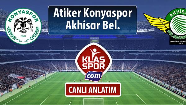Atiker Konyaspor - Akhisar Bel. sahaya hangi kadro ile çıkıyor?