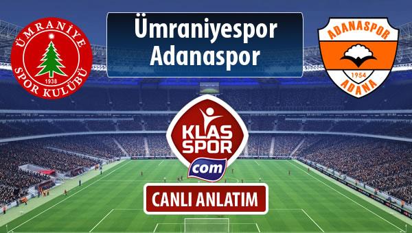 Ümraniyespor - Adanaspor maç kadroları belli oldu...
