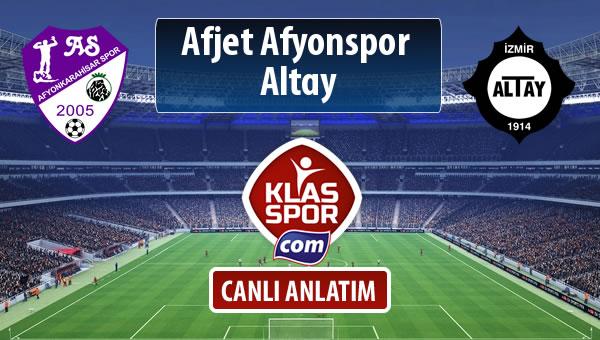İşte Afjet Afyonspor  - Altay maçında ilk 11'ler