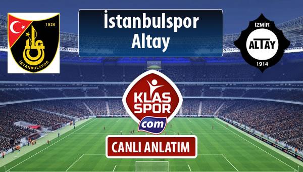 İstanbulspor - Altay sahaya hangi kadro ile çıkıyor?