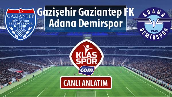 İşte Gazişehir Gaziantep FK - Adana Demirspor maçında ilk 11'ler