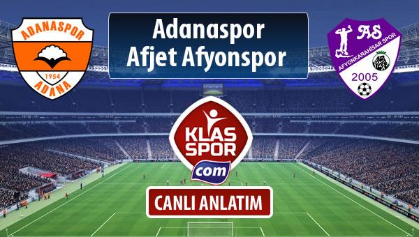 Adanaspor - Afjet Afyonspor  maç kadroları belli oldu...