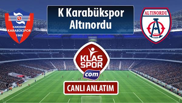 K Karabükspor - Altınordu maç kadroları belli oldu...