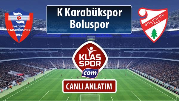 İşte K Karabükspor - Boluspor maçında ilk 11'ler