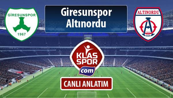 İşte Giresunspor - Altınordu maçında ilk 11'ler