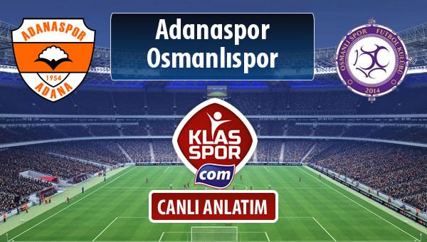 Adanaspor - Osmanlıspor sahaya hangi kadro ile çıkıyor?