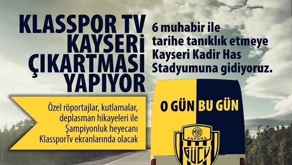 Klasspor TV, Kayseri çıkartması yapıyor